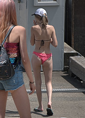 Summer Weather (Scott 97006) Tags: ladies female woman bikini shorts cute blonde derrier