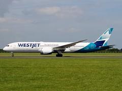 "Westjet                                             Boeing 787 ""Dreamliner""                                       C-GUDO (Flame1958) Tags: westjet westjetb787 boeing787 boeing b787 787 boeingdreamliner 787dreamliner b787dreamliner westjetdreamliner cgudo dub eidw dublinairport 150719 0719 2019 vacation holiday flying flight travel airport airtrafficcontrol aviationireland 5017"
