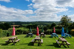 I can think of worse places to have afternoon coffee (sasastro) Tags: burwash eastsussex views englishcountryside pentaxk5iis