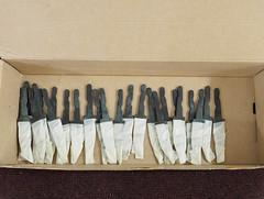 Knifeblade blanks (Alf Branch) Tags: scouts scandiknife knife knifemaking 1sthensinghamscouts