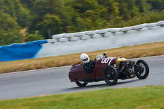 Morgan Three-wheeler, GP historique du Pas de Calais 2019 (Thibault Gaulain) Tags: voiture car course racing race motorsport wheel engine grassroot amateur nikon d7200 55300 summer outdoor outside nord north pas de calais croix en ternois track circuit old vintage ancienne anciennes seven évènement été france 500cc halfliter half liter vitesse speed
