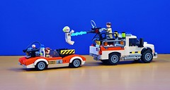 Busting Ghosts (Hobbestimus) Tags: lego moc ghostbusters raystanz petervenkman ecto4x4 speedtrap movie toys therealghostbusters 80s beetlejuice
