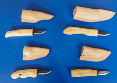 With sheaths 2 (Alf Branch) Tags: scouts scandiknife knife knifemaking 1sthensinghamscouts
