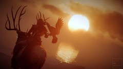The Eagle Bearer (ilikedetectives) Tags: kassandra assassinscreed assassinscreedodyssey acodyssey acphotomode gaming gamecaptures ingamephotography videogames virtualphotography sunset eagle silhouette screenshot ubisoft ubisoftquebec