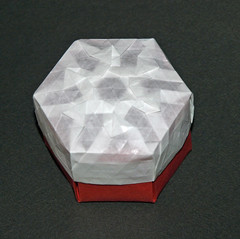 DOUBLE TRIANGLE TWIST STAR BOX (mganans) Tags: origami tessellation box