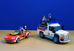 Speed Trap and Ecto-4x4 (Hobbestimus) Tags: lego moc ghostbusters raystanz petervenkman ecto4x4 speedtrap movie toys therealghostbusters 80s