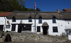 The Rising Sun - Lynmouth (Mark Wordy) Tags: lynmouthlynton devon exmoor therisingsun restaurant thatchedcottage village riverside