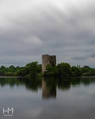 Island (Helen Mulvey) Tags: calm still outdoor cloudmovement lake waterscape landscape nature island ruin castle waterreflection longexposure d5100 nikon ireland cavan loughoughter cloughoughter