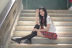 Kiki Fong (玩家) Tags: 2019 台灣 台北 師大附中 人像 外拍 正妹 模特兒 水手服 制服 戶外 定焦 無後製 無修圖 taiwan taipei portrait glamour model girl female kiki fong outdoor d610 85mm prime
