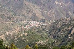 Aerial view of Vallehermoso valley on La Gomera, Spain