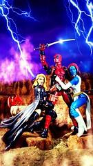 XXX Fantasy (custombase) Tags: marvellegends xmen figures deadpool emmafrost mystique lockheed xxx fantasy diorama toyphotography