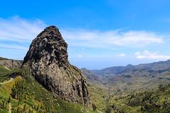 Roque de Agando im Nationalpark Garajonay auf La Gomera, Spanien