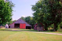 IHFarmall (stephen.michaels) Tags: canoneos55 canonef28135mmf3556isusm barn tractor farming agriculture trees michigan internationalharvestor farmall