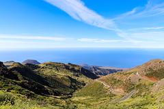 Aerial view of the island La Gomera, Spain