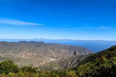 Blick auf das Tal von Vallehermoso auf La Gomera, Spanien
