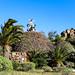 Metall-Skulptur an der Aussichtsplattform Mirador César Manrique im Tal Valle Gran Rey auf La Gomera, Spanien