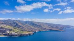 Blick auf die Südostküste von La Gomera, Spanien