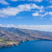 Aerial view of the south east coast of La Gomera, Spain