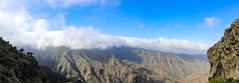 Clouds over mountain peaks in the Garajonay National Park on La Gomera, Spain