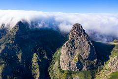 The Roque de Agando in the Garajonay National Park, La Gomera