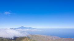 View above La Gomera towards Teneriffa