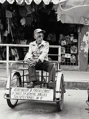 Triciclero II (Marcos Núñez Núñez) Tags: streetphotography street national streetportrait portrait blackandwhite byn blancoynegro triciclo triciclero mx oaxaca oax tuxtepec samsunga50