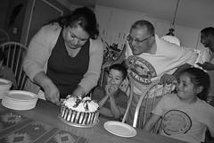 DSC_0078 (rlnv) Tags: california bayarea nikond3300 1855mmf3556gvrii birthday sunnyvale cake dessert blackandwhite tomás gabriela celina noesr