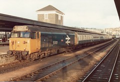 50021 Plymouth November 1982 (clivepsmithmarch1960) Tags: 50021 plymouth