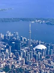 Evening in Toronto (remiklitsch) Tags: cityscape city landscape blue remiklitsch iphone cntower skyline toronto