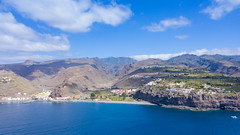 "View from the ocean to Laguna de Santiago on La Gomera, Spain (dronepicr) Tags: hike allgemein city wanderlust natur kanaren archipelago ""aerialviewtravel"" drone wandern mavic island stadt kanarische inseln teneriffa länderstädte insel geotagged landscape schönste strände luftbild strandurlaub bay spain sightseeing tenerife aerial ferien uav hiking wanderurlaub la gomera foto beach macaronesia strand travel urlaub luftbildreise ""birdseyeview"" canary islands vogelperspektive drohne holiday spanien ballermann"