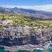 Blick auf die Klippe von Laguna de Santiago auf La Gomera, Spanien