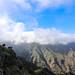 Wolkengehüllte Berge im Nationalpark Garajonay auf La Gomera, Spanien