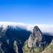 Wolken über dem Nationalpark Garajonay in der Nähe vom Roque de Agando auf La Gomera, Spanien