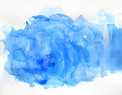 Cerulean SEA (Suz .. Abstract Art) Tags: blue sea fresh diamond water sapphire painting art expressive love abstract modern watercolor paint white joy oil happiness