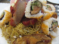 Deerfoot Buffet (annesstuff) Tags: annesstuff food asian chinese meat bbqpork porktenderlion chowmein sushi noodles avocado salmon