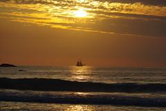 3KB16385a_C (Kernowfile) Tags: cornwall cornish pentax stives porthmeorbeach sea water ship sailingship sky dramaticsky sunset sunsetlight beach waves rocks clouds smcpentaxda18135mmf3556edalifdcwr pentaxforums