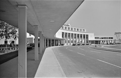 At the entrance to the municipal airport in Washington, D.C., July 1941. (polkbritton) Tags: jackdelano 1940s fsaowi airplanes travel washingtondchistory libraryofcongresscollections streamlinemoderne