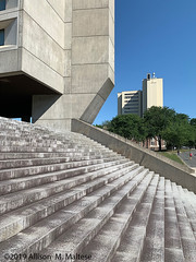 UMASS Amherst #1 (A.Maltese) Tags: building architecture stone murraydlincolncampuscenter campus umassamherst umass steps geometric