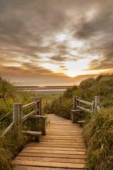 _M5A8937 (ronniebell) Tags: summer coast water stile path sunset sky beach