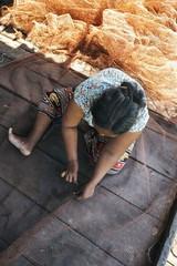 Fisherwoman Mott in Peam Bam village