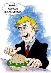 Trump come alface (Guto Camargo/Gibi na Net) Tags: humor charge cartoon cartum trump eduardo bolsonaro