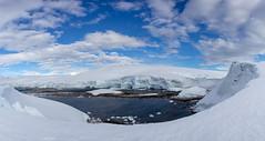Portal Point - Antarctic Peninsula (LauriNovakPhotography) Tags: ice landscape antarcticcontinent antarcticpeninsula snow water sky blogday9 antarctica oneocean glacier portalpoint clouds