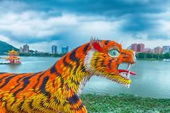 Kaohsiung Pagoda (alex in bkny) Tags: kaohsiung pagoda tiger dragon color fujifilm xt20 iso1000 16mm f32 13000sec