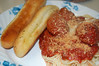 Bread Sticks And Spaghetti. (dccradio) Tags: lumberton nc northcarolina robesoncounty monday july summer summertime mondayevening evening nikon d40 dslr spaghetti meatball meatballs parmesancheese spaghettiwithmeatballs tomatosauce spaghettisauce spaghettiplate indoor indoors inside food meal eat supper dinner lunch
