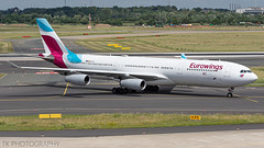 OO-SCX Eurowings Airbus A340-313 (°TKPhotography°) Tags: airbus a340 eurowings düsseldorf ooscx airport flight aviation airplane airlines germany canon 7d photography
