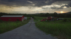 Country Sunset (i am delondra) Tags: sunset country alabama farm countryside truck sun cloudy cloudysky prettysky