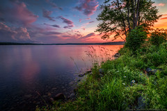 Peaceful Sunset on Wassookeag (Greg from Maine) Tags: maine wassookeag lakewassookeag sunset sunrise lakeside nature landscape lake pond water trees penobscotcounty dextermaine reflection mainehighlands newengland
