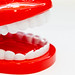 Modeling tooth and gum toys on a white background