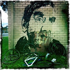 All The Lonely Pieces (Rantz) Tags: rantz mobilography 365 roger doesanyonereadtagsanymore victoria melbourne johnslens kodotxgrizzledfilm adidap bicycle myoz hipstamatic pbwa bicycles