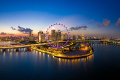 Eleventh of July (Shutter wide shut) Tags: aerialphotography dji djiglobal djimavic2pro droneshot ferriswheel sg sgflyer singapore singaporeflyer sunset dusk